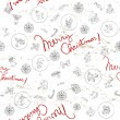 Christmas doodles pattern — Stockfoto