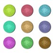 Disco ball buttons — Foto de Stock