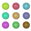 Disco ball buttons — Foto Stock
