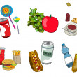 Fast food icon set — Stock Photo #14251057