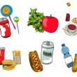 Fast food icon set — Stock Photo