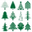 Green Christmas tree series — Stockfoto