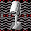 Microphone on a retro pattern — Lizenzfreies Foto