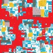 Stock Photo: Pixel city pattern