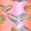 Silk dragons pattern — Stockfoto