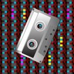 Tape on a digital pattern — Stock Photo