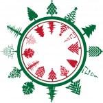 Christmas circle composition — Stock Photo #14657909