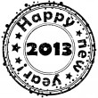 Happy new year 2013 stamp — Stockfoto