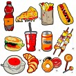 Scarry fast food elements — Stock Photo