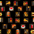 Scarry fast food pattern - Foto Stock