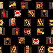 Vzor jizevnaté rychlého občerstvení — Stock fotografie
