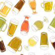 Beer pints pattern — Stock Photo