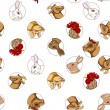 Domestic animals pattern - Foto Stock