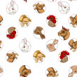Stock Photo: Domestic animals pattern