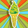 Pop art ice cream — Stock Photo