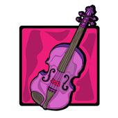 Violin clip art — Stock Photo
