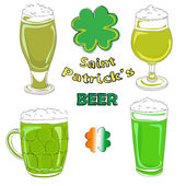 Saint patrick beer pints — Stock Photo