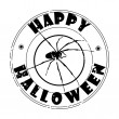 Halloween spider stamp — Stockfoto