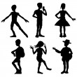 Kids silhouettes — Stock Photo #19146037