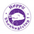 Thanksgiving turkey stamp — Stock fotografie