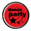 Dance party stamp — Stock fotografie #21689827