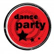 Dance party stamp - Stock fotografie