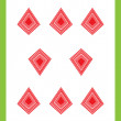 Eight of diamonds - Foto Stock