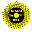 Disco vibe stamp - Foto Stock
