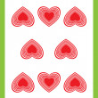 Eight of hearts - Foto Stock
