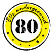 Eighties underground stamp - Stockfoto