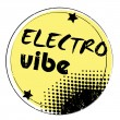 Electro vibe stamp — Stock Photo