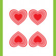 Four of hearts — Stockfoto