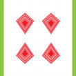 Four of diamonds - Stockfoto