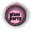 Glam party stamp - Stock fotografie