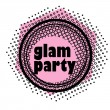 Glam party stamp — Stock Photo