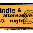 Indie alternative night stamp — Stock Photo
