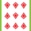 Nine of diamonds - Stockfoto