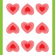 Nine of hearts — Stock Photo
