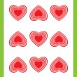 Nine of hearts - Stock fotografie