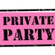 Foto Stock: Private party stamp