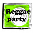 Reggae party stamp — Stock Photo