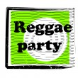 Reggae party stamp - Foto de Stock