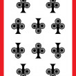 Ten of clubs - Stockfoto