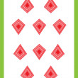 Ten of diamonds — Foto Stock