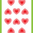 Stock Photo: Ten of hearts