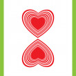 Two of hearts - Foto de Stock
