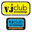 Vj club screenings stamp - Foto de Stock