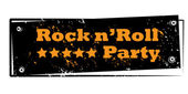 Rock n' roll stamp — Foto de Stock
