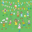 Kids party - Stockfoto