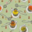 Tea time pattern — Stock Photo